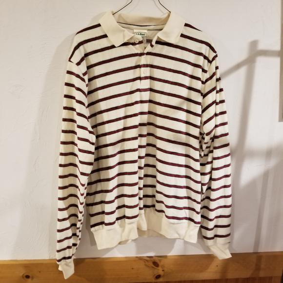 94d0105a L.L. Bean Shirts | Vintage Ll Bean Long Sleeve Rugby Polo Shirt ...